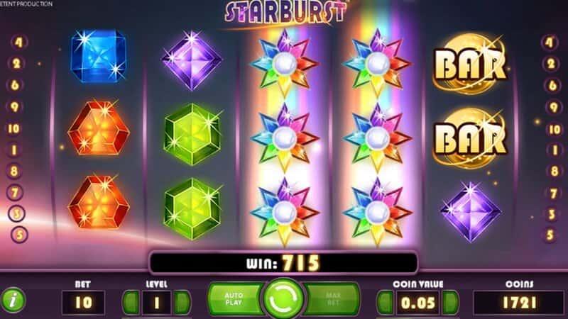 ท็อป 3 เกม สล็อต Fb88 starburst